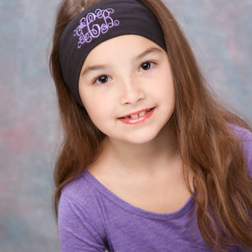 Monogrammed Headband, Initial Headband, Embroidered headband, Personalized gift, monogrammed gifts, Kids, tween, teen, women,