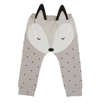 Autumn Children Leggings Boys Clothes Baby Girls Clothes Cute Cartoon Fox Pattern Pants Spring