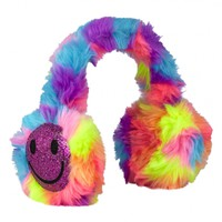 Smiley Faux Fur Earmuffs | Girls Hats, Scarves & More Clearance | Shop Justice