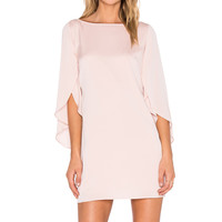 MILLY Butterfly Sleeve Dress in Blush