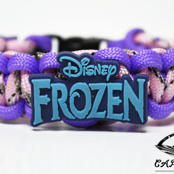 Frozen Bracelet, Elsa, Frozen Jewelry, Frozen Movie, Frozen Logo Bracelet, Custom Frozen Bracelet. 26 Colors to choose