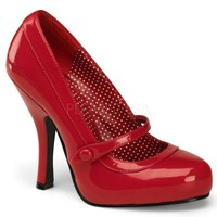Cutie Pie Shiny Red Patent Baby Doll Pumps