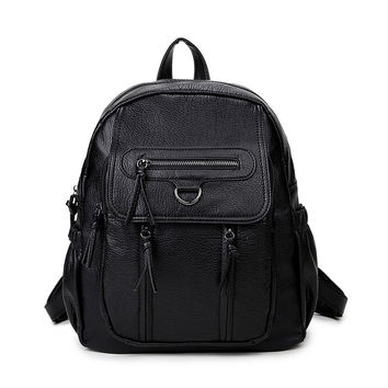 College Hot Deal Comfort Back To School On Sale Stylish Korean Bags Rinsed Denim Casual Backpack [4915455428]