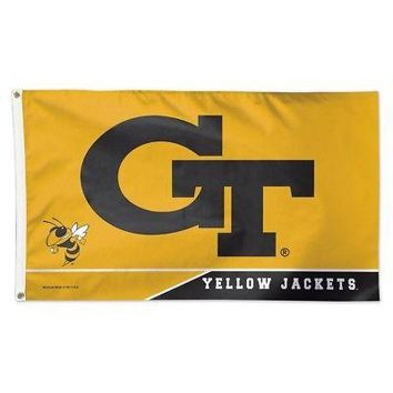 GEORGIA TECH YELLOW JACKETS GT 3'X5' DELUXE FLAG BRAND NEW WINCRAFT