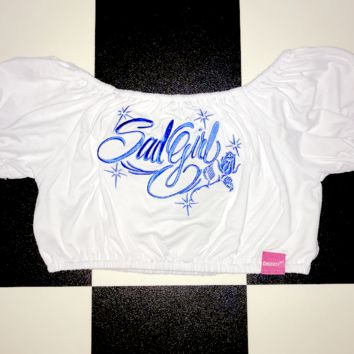 SWEET LORD O'MIGHTY! SAD GIRL BARDOT CROP TOP