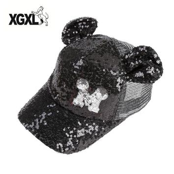 Trendy Winter Jacket Baby Girls Sequins Baseball Caps Baby Letter Snapback Caps Mickey Horn Children Mesh Summer Hip Hop Adjustable Sun Hats Bonnet AT_92_12