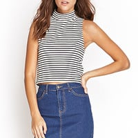 FOREVER 21 Classic Wash Denim Skirt