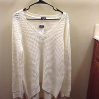 Cream Colored Knitted Top (Rue 21)