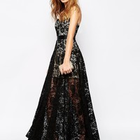 Fame and Partners Lace Sweetheart Bandeau Maxi