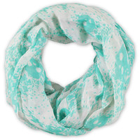 D&Y Skull Splatter Teal Infinity Scarf at Zumiez : PDP