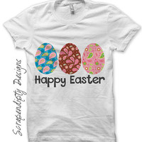 Easter Eggs Iron on Shirt PDF - Baby Iron on Transfer / Girls Easter Shirt / Baby Clothes / Kids Girls Clothing Tops / Easter Outfit IT190