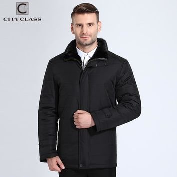 New Men Thick Warm Winter Jacket Casual Mink Stand Collar Outerwear Winter Coats