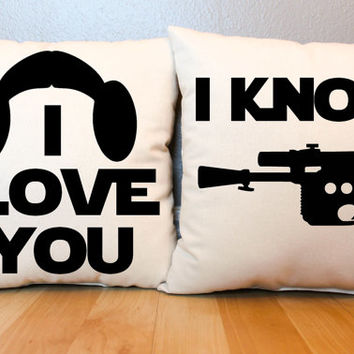 "Star Wars ""I Love You/I Know"" Pillow Set"