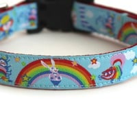 Alice in Wonderland Dog Collar for Small Dogs