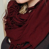Free People  Solid Jersey Loop Scarf at Free People Clothing Boutique