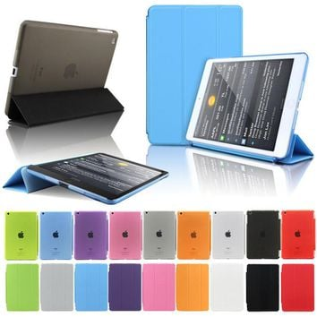Smart Cover Case Auto Magnetic Stand Flip Case For Apple iPad Air