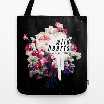 wild hearts Tote Bag by Much Wow