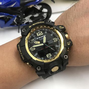 DCCK C010 Casio G Shock GWG-1000 Plastic Straap Fashion Electronic Watches Black Gold