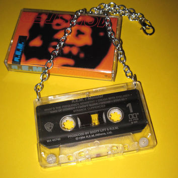 REM Cassette Tape Necklace Jewelry Pendant Charm 90's Band Pop Rock Music DJ Emo Scene Retro Free Shipping To USA & Canada