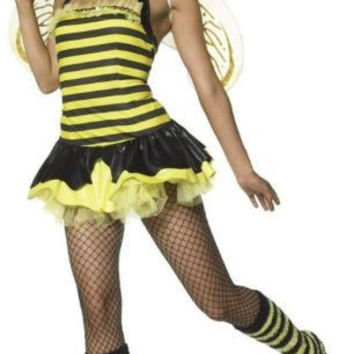 Women's Costume: Queen Bumble Bee Sexy | Small/Medium