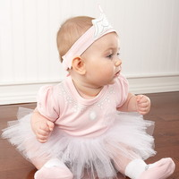 "Baby Aspen BA16010PS ""Big Dreamzzz Baby Princess"" Three-Piece Layette Set"