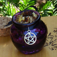 Peaceful WItch . Honey Heartwood Resin Pot . Peace, Love, Tranquility, Meditation, Wisdom, Sacred Blessings