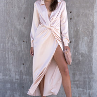 Atura Silk Dress - Champagne