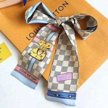 LV Louis Vuitton Women Scarf Shawl Silk Scarf