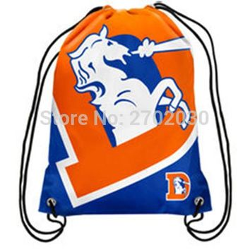 Denver Broncos Hockey Team Drawstring Bags Men Sports Backpack Digital Printing Pouch Customize Bags 35*45cm
