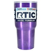 RTIC Purple Princess Glitter 20 oz Tumbler