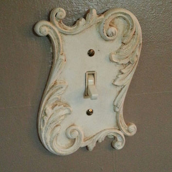 Vintage American Tack and Hardware Co Light Switch Cover Plate with swirls and scrolls