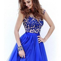 Buy discount Chic Organza & Tulle V-neck Neckline Short A-line Homecoming Dress at Dressilyme.com