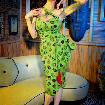 Voodoo Vixen Dress in Monster Print
