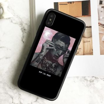 Lil peep Rapper Coque Black Soft Silicone Phone Case Cover Shell For Apple iPhone 5 5s Se 6 6s 7 8 Plus X XR XS MAX