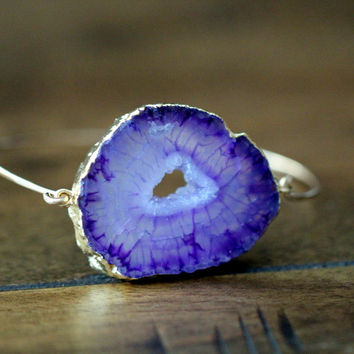 Agate Slice Bracelet - Iris