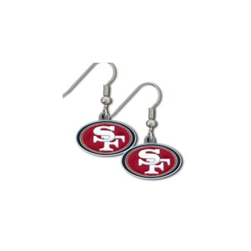 NFL 49ers Enameled Zinc Dangle Earrings