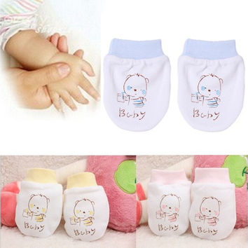 Newborn Baby Cartoon Pattern Anti-grasping Gloves Anti-scratch Mittens Newborn Face Protection [8834014924]
