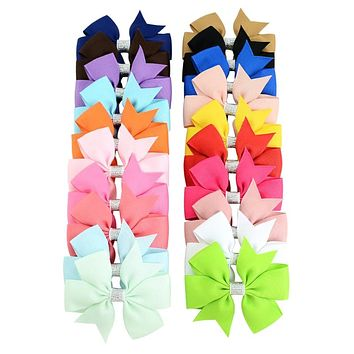 Girls Baby Hair Bows Princess Ribbon Clip Hairpin Alligator Grosgrain Color