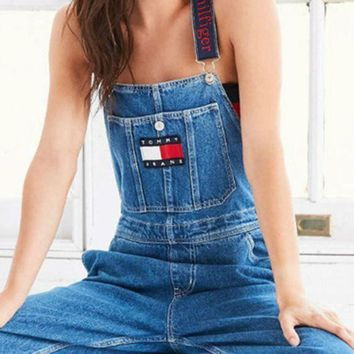 VONEHL5 Tommy Jeans x Urban Outfitters Fashion Romper Jumpsuit Pants