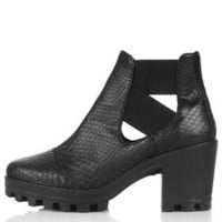 BOSTON Cut-Out Boots - Black