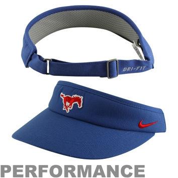 Nike SMU Mustangs 2013 Sideline Dri-FIT Adjustable Performance Visor – Royal Blue - http://www.shareasale.com/m-pr.cfm?merchantID=7124&userID=1042934&productID=520993859 / SMU Mustangs