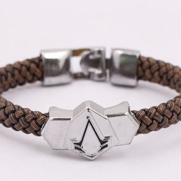 Fashion Assassin's Creed Assassin Leather Bracelet simple male personality dignity YPQ0568