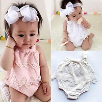 Newborn Baby Girls Bodysuit Cute Bebes Body Clothes Jumpsuit Outfit Sunsuit Flower Clothes 0-18M