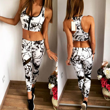 LoveMyun 2016 Newest yoga set women sports bra Sexy push up Gym Breathable Fitness Cloth Workout sport costumes for women capris