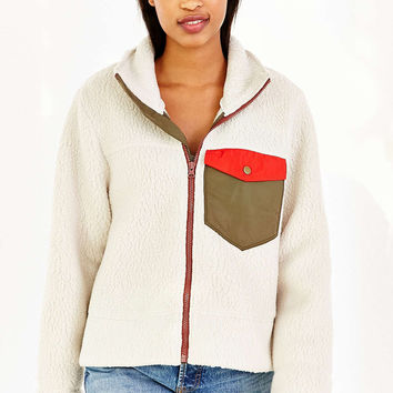 Without Walls Thermal Shearling Zip-Up Jacket - Urban Outfitters