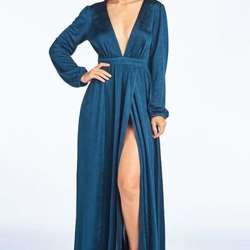 Midnight Wish Long Sleeve Maxi Dress