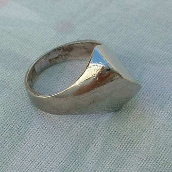 Panetta Sterling Silver Retro Design Ring Size 6.5 Vintage Jewelry