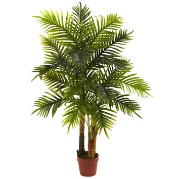 SheilaShrubs.com: 4' Areca Palm Tree (Real Touch) 5424 by Nearly Natural : Indoor Garden Decor Silk Trees & Plants