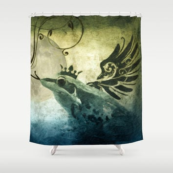Frog Prince Midnight Fantasy Shower Curtain by Nirvana.K | Society6