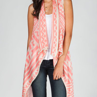 Say What? Native Womens Wrap Coral  In Sizes